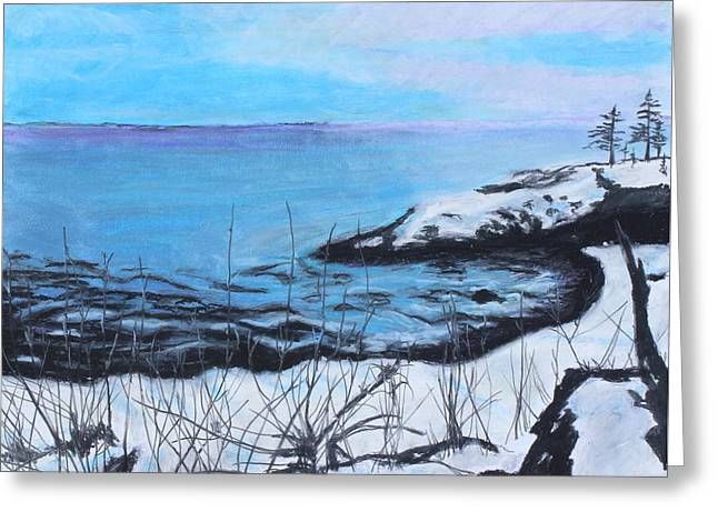Winter Travel Pastels Greeting Cards - Lakeland 5 Greeting Card by Jeanne Fischer