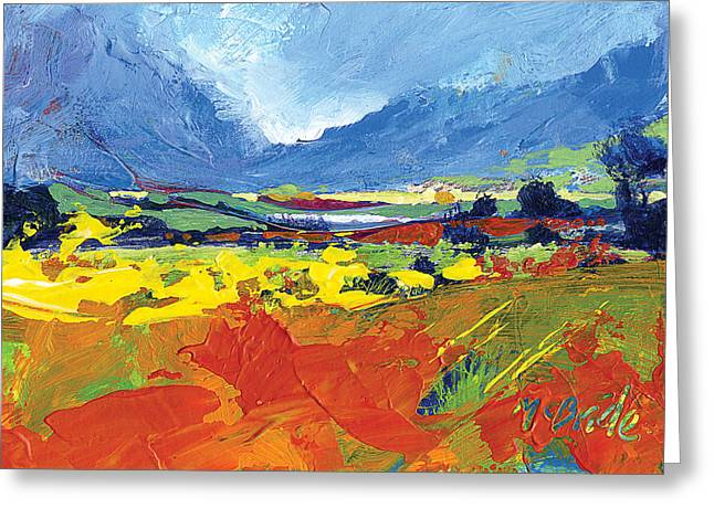 Hills Greeting Cards - Lakeland Splash Greeting Card by Neil McBride