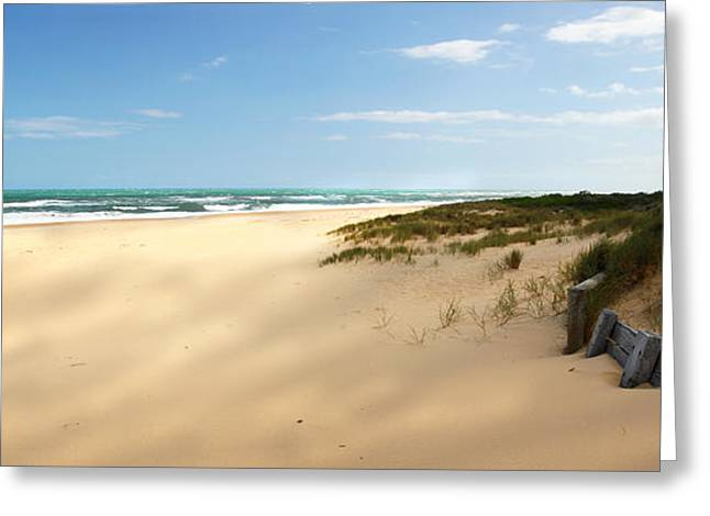 Ninety Mile Beach Greeting Cards - Lakes Entrance Nintey Mile Beach Greeting Card by Glen Johnson