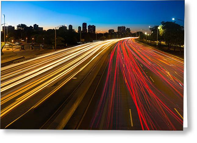 Lakeshore Greeting Cards - Lakeshore Drive Chicago Greeting Card by Steve Gadomski
