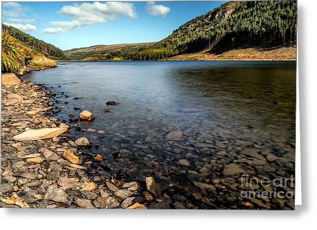 Autumn Digital Art Greeting Cards - Lakeside Greeting Card by Adrian Evans