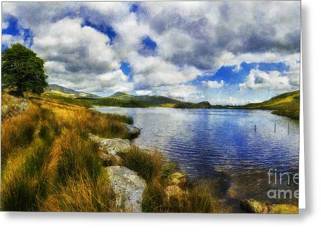 Reflecting Water Digital Art Greeting Cards - Lakeside Memories Greeting Card by Ian Mitchell