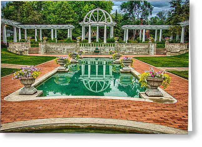 Lakeside Park Wedding Pavilion II Greeting Card by Gene Sherrill