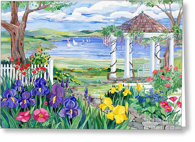 Gazebo Greeting Cards - Lakeview  Greeting Card by Paul Brent