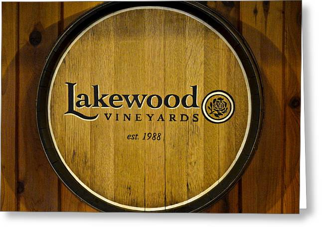 Lakewood Vineyards Greeting Card by Frozen in Time Fine Art Photography