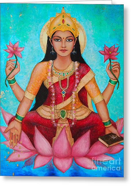 Hindu Goddess Digital Greeting Cards - Lakshmi Greeting Card by Dori Hartley