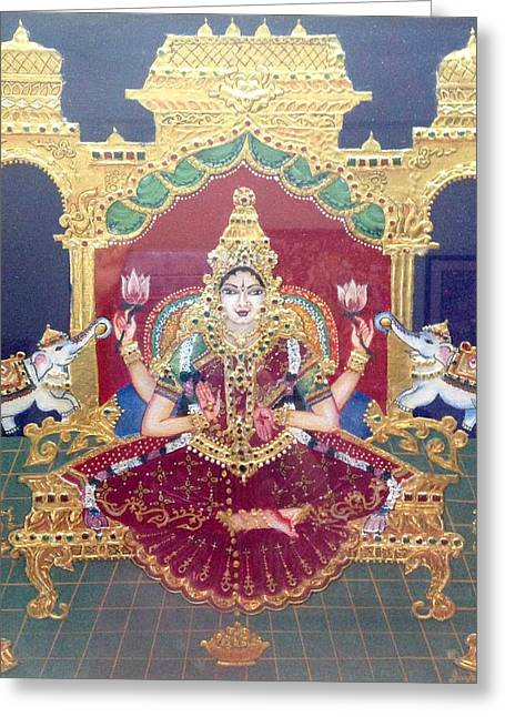 Kami A Greeting Cards - Lakshmi Greeting Card by Jayashree