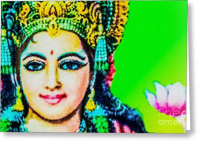 Goddess Durga Digital Art Greeting Cards - Lakshmis Love Greeting Card by Tarik Eltawil