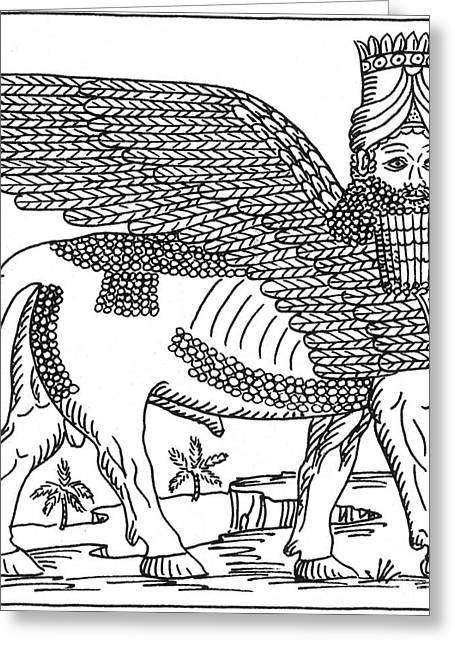 Lamassu, Assyrian Protective Deity Greeting Card by Photo Researchers