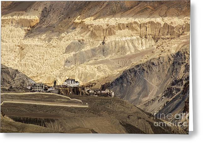 Lamayuru Monastery Ladakh Jammu And Kashmir India Greeting Card by Rudra Narayan  Mitra