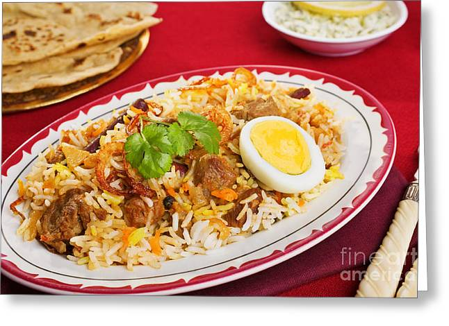 Special Occasions Greeting Cards - Lamb Biryani Greeting Card by Colin and Linda McKie