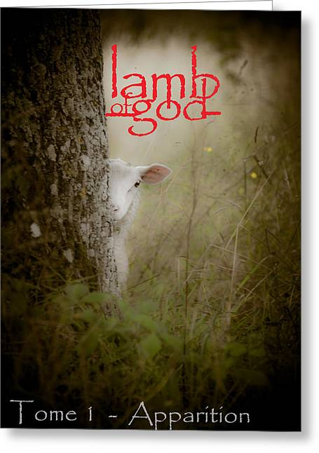 Tome Greeting Cards - Lamb of God book cover Greeting Card by Loriental Photography