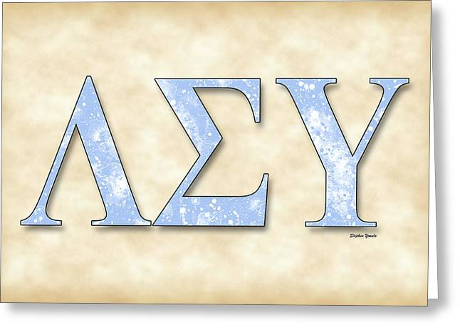 Lsu Campus Greeting Cards - Lambda Sigma Upsilon - Parchment Greeting Card by Stephen Younts