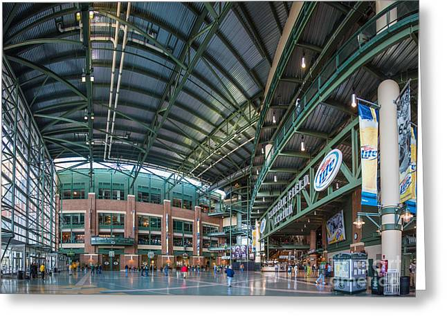 Lambeau Field Greeting Cards - Lambeau Atrium Greeting Card by Andrew Slater