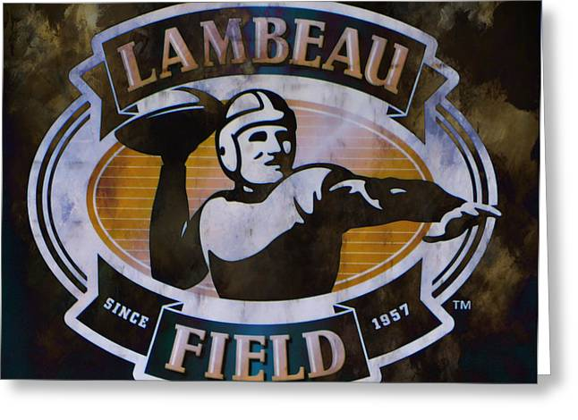 Vince Greeting Cards - Lambeau Field Greeting Card by Deena Stoddard