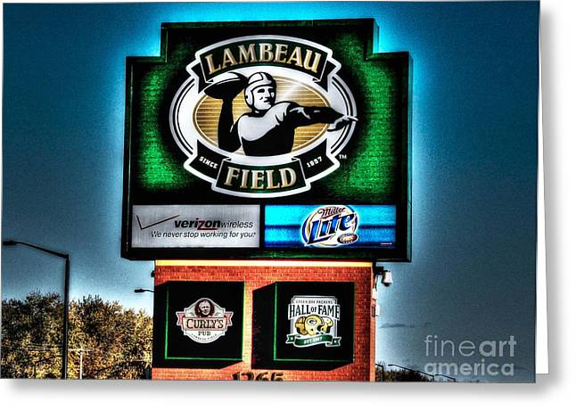 Lambeau Field Greeting Cards - Lambeau Field Entrance Greeting Card by Tommy Anderson