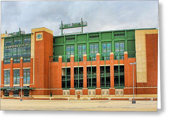 Lambeau Field Photographs Greeting Cards - Lambeau Field Greeting Card by Jack Schultz