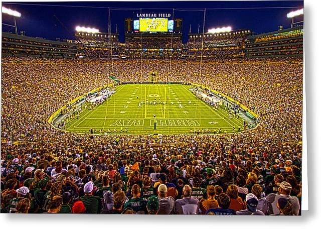 Lambeau Field Greeting Card by Phil Koch