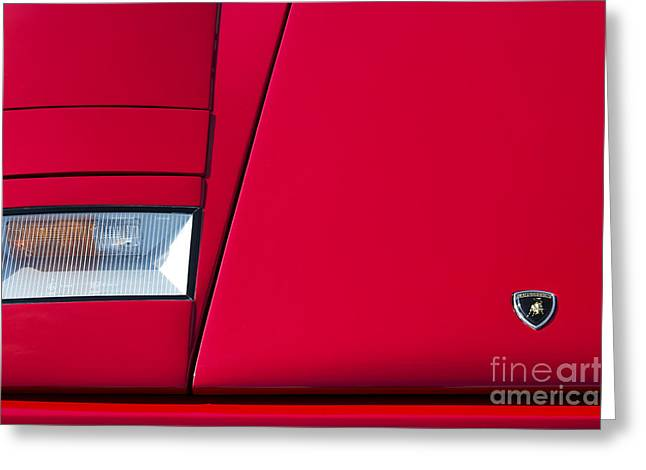 Lambo Greeting Card by Tim Gainey