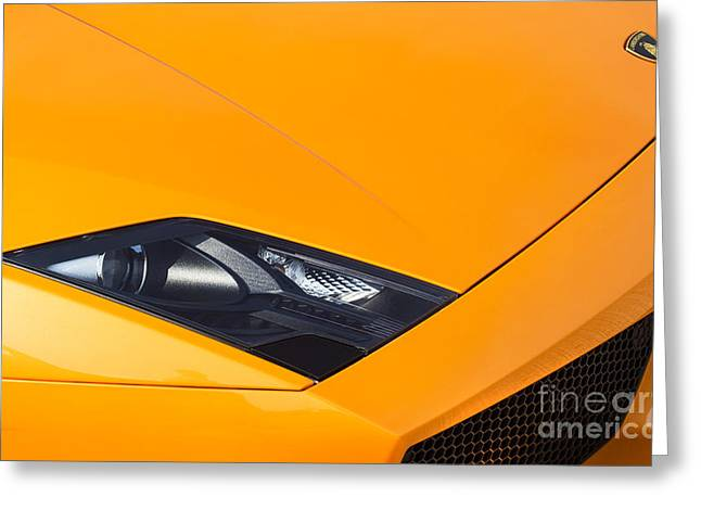 Front End Greeting Cards - Lamborghini Abstract Greeting Card by Tim Gainey