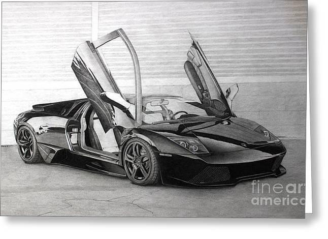 Metal Sheet Greeting Cards - Lamborghini LP640 Greeting Card by Gary Reising