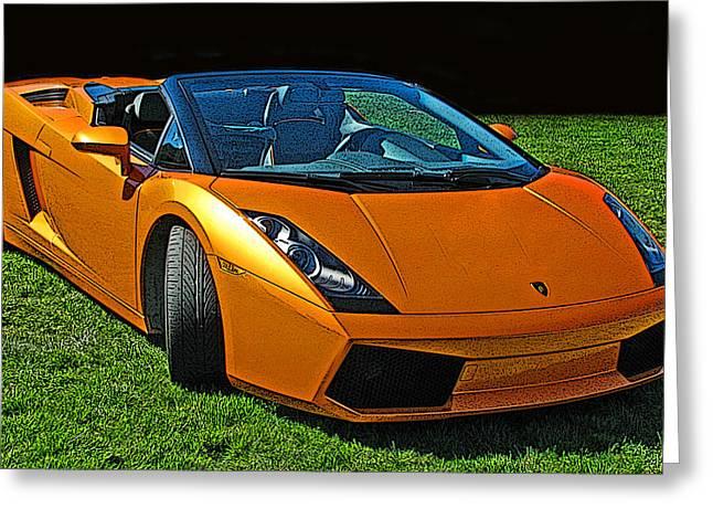 Sheats Greeting Cards - Lamborghini Gallardo Spyder Greeting Card by Samuel Sheats