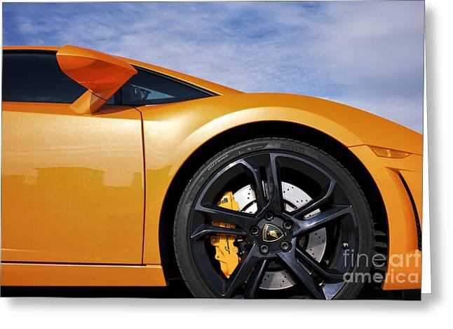 Disc Photographs Greeting Cards - Lamborghini Gallardo Greeting Card by Tim Gainey
