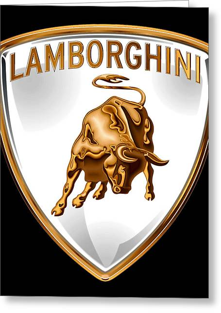 Car Insignia Greeting Cards - Lamborghini Insignia Greeting Card by Daniel Hagerman
