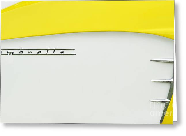 Lambretta Yellow  Greeting Card by Tim Gainey