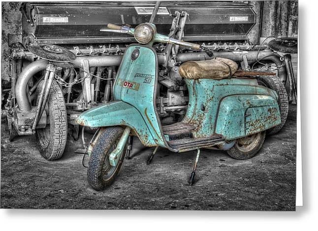 Lambretta Greeting Card by Mauro Celotti