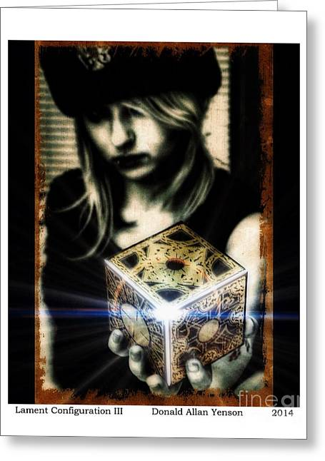 Pinhead Greeting Cards - Lament Configuration III Greeting Card by Donald Yenson