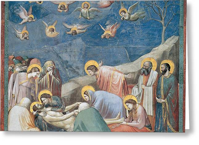 Lamentation Greeting Cards - Lamentation Greeting Card by Giotto