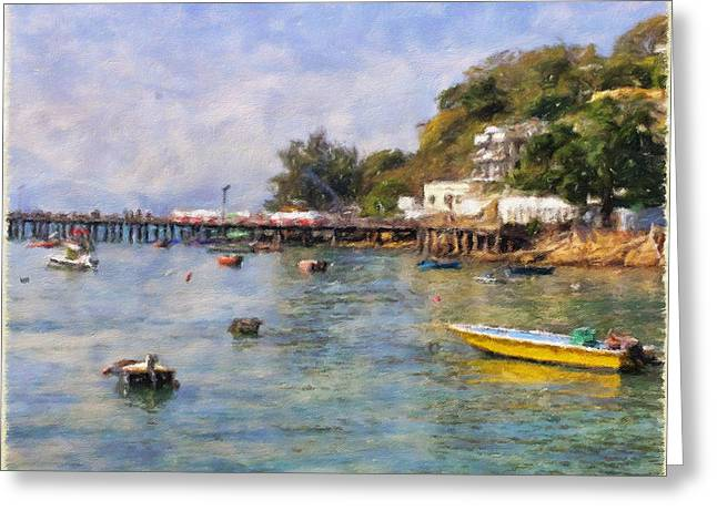 Lamma Island Bay Greeting Card by Yury Malkov