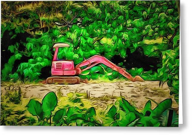 Island Imagination Greeting Cards - Lamma Island Construction Greeting Card by Yury Malkov