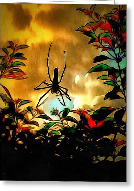 Island Imagination Greeting Cards - Lamma Island Spider Greeting Card by Yury Malkov