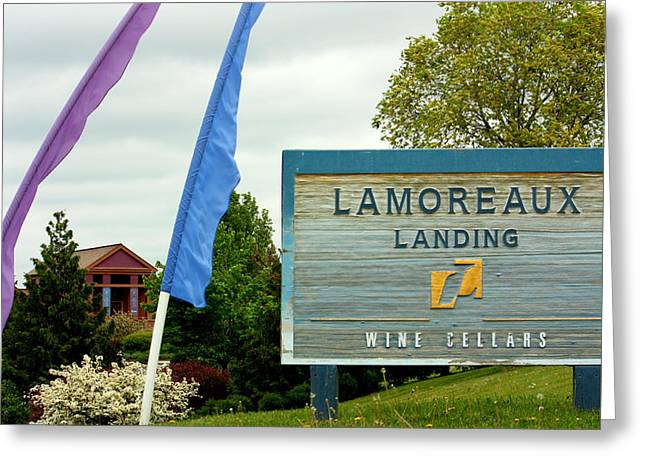 Wine Tour Greeting Cards - Lamoreaux Landing Wine Cellars Greeting Card by Michael Carter