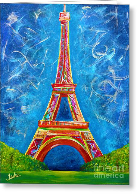 Teshia Art Greeting Cards - Lamour a Paris Greeting Card by Teshia Art
