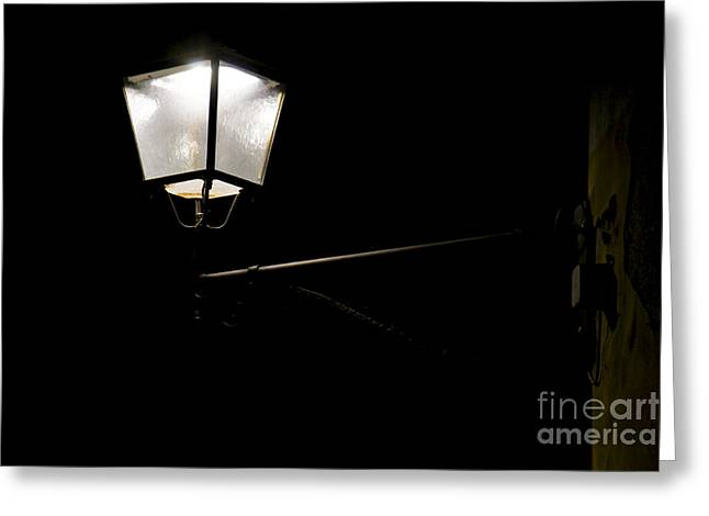 Streetlight Greeting Cards - Lamp by night Greeting Card by Stefano Piccini
