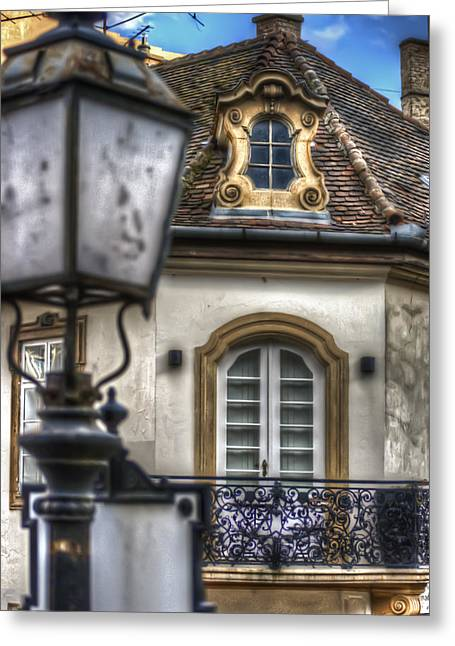 Residential Structure Digital Greeting Cards - Lamp Greeting Card by Nathan Wright