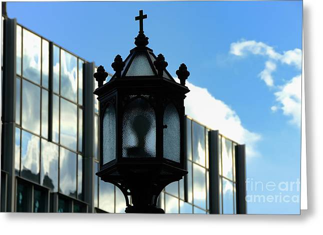College Avenue Greeting Cards - Lamp Post Pittsburgh Greeting Card by Thomas R Fletcher