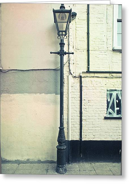 Lamp Worked Greeting Cards - Lamp post Greeting Card by Tom Gowanlock