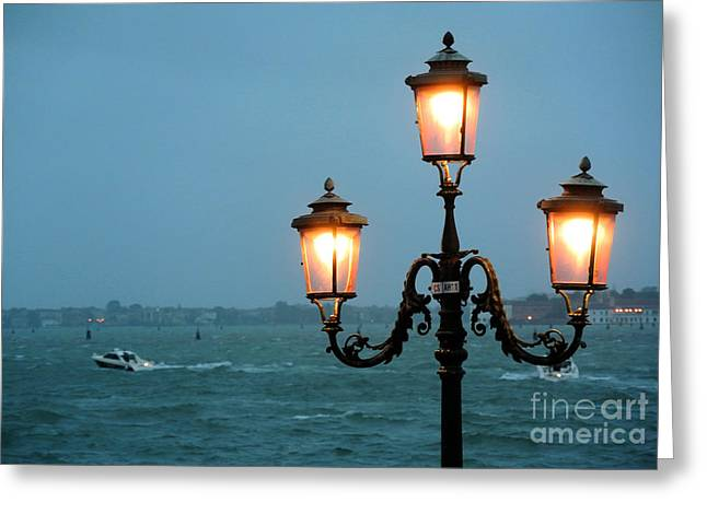 Lampada Di Venezia Greeting Card by Sarah Christian