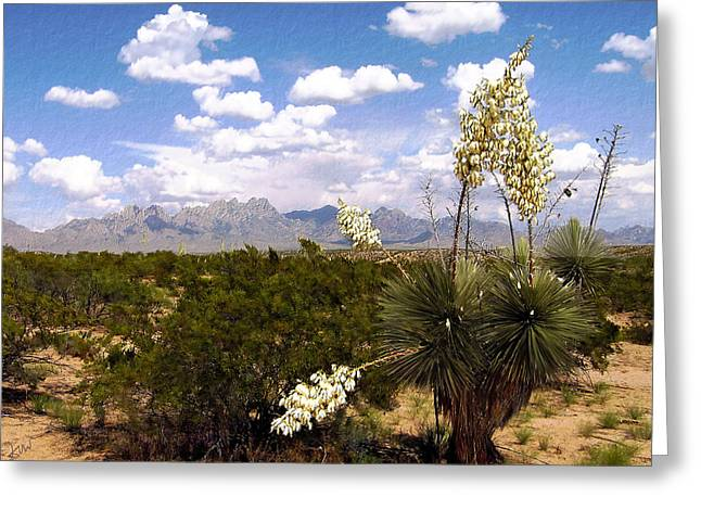 Las Cruces New Mexico Greeting Cards - Lampadres de Dios Greeting Card by Kurt Van Wagner