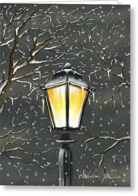 Street Lamps Digital Greeting Cards - Lampione Greeting Card by Veronica Minozzi