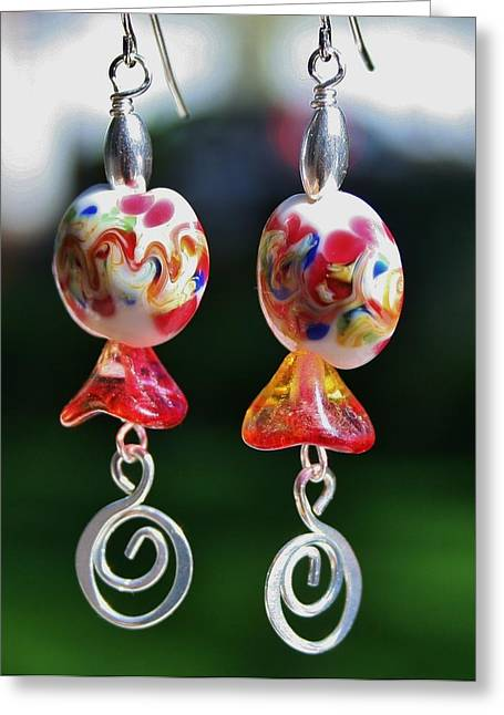 Lampwork Greeting Cards - Lampwork Buds Greeting Card by Kelly Nicodemus-Miller