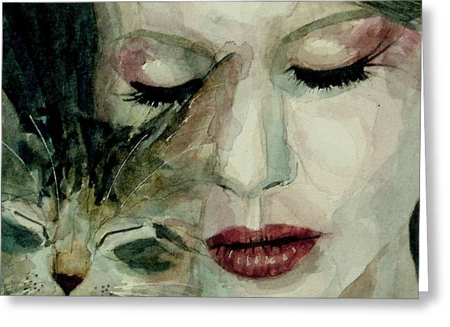 Singer Paintings Greeting Cards - Lana Del Rey and a friend  Greeting Card by Paul Lovering