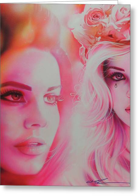 Hippy Greeting Cards - Lana Del Rey Greeting Card by Christian Chapman Art