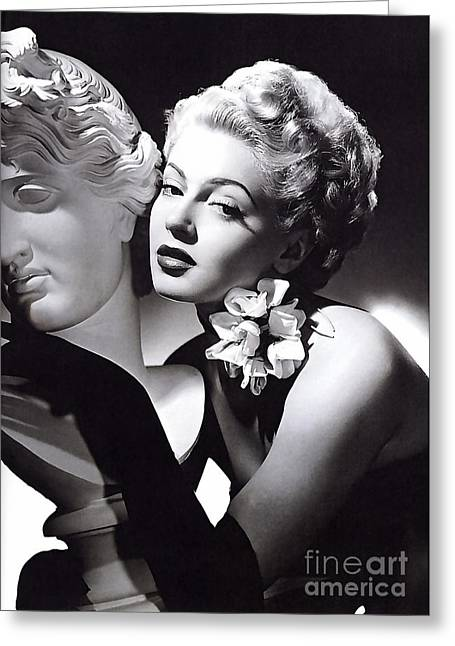 Lana Turner Greeting Card by Marvin Blaine