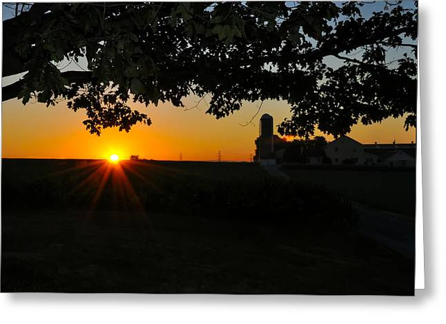 Amish Farms Greeting Cards - Lancaster County Morning Greeting Card by Bill Cannon