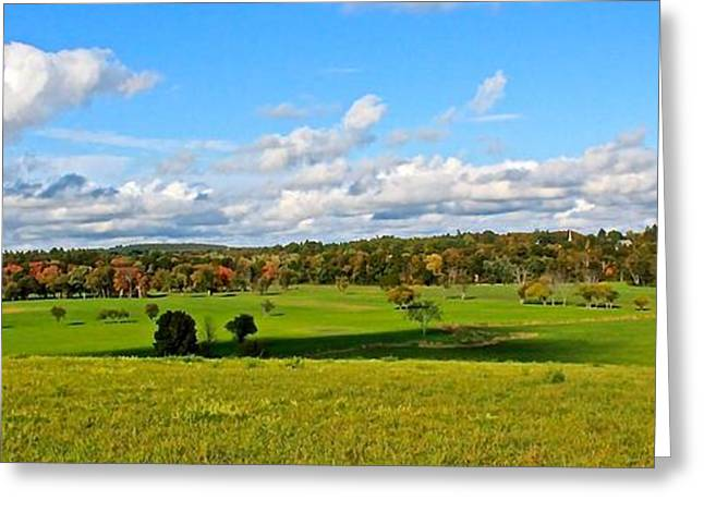 Central Ma Greeting Cards - Lancaster MA Farmland in Autumn 1 Greeting Card by Michael Saunders
